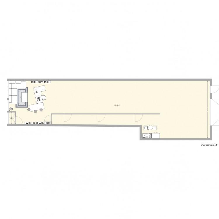 Buro rabso variante plan 2 pi ces 145 m2 dessin par rabso for Buro en ligne