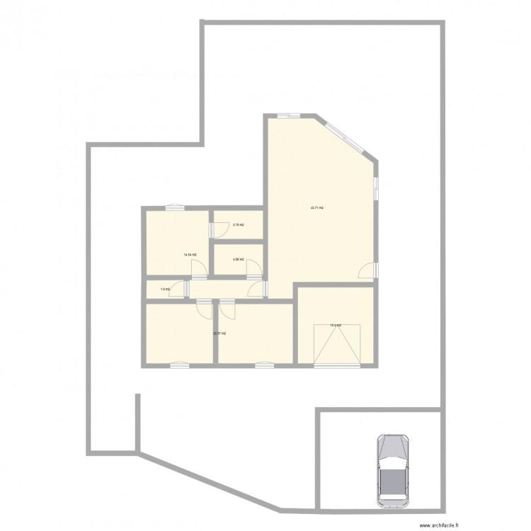 Derni re maison plan 7 pi ces 106 m2 dessin par mdomy for Taille moyenne maison