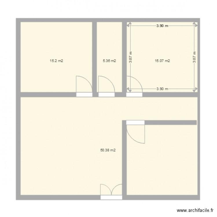 Maison 3 Pieces Plan 4 Pi Ces 86 M2 Dessin Par Kouaho