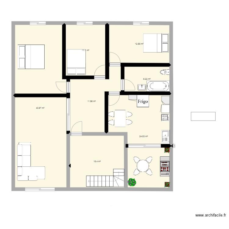 Dlb 3 plan 8 pi ces 125 m2 dessin par alaeddine boualit for Dlb meuble