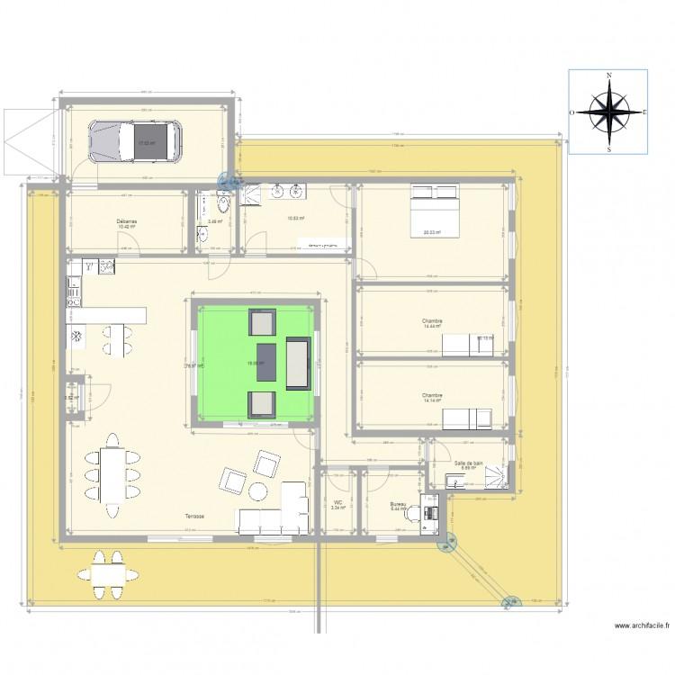 Croquis Pièces Maison : Maison autonome croquis plan pièces m dessiné