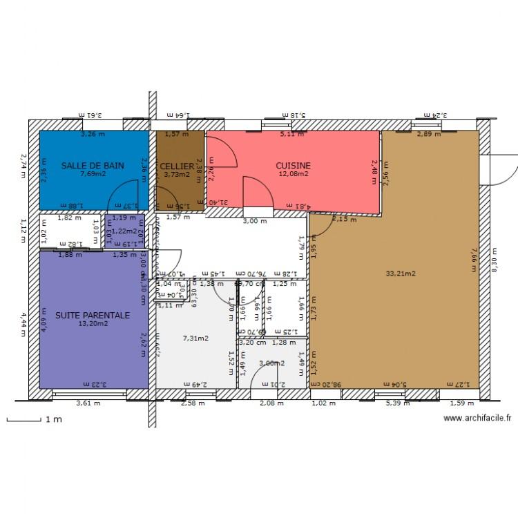 Plan maison 6 chambres plan 8 pi ces 81 m2 dessin par for Maison 6 chambres