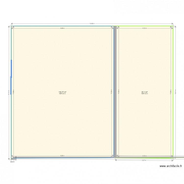 plan rez de chaussee maison plan 2 pi ces 172 m2 dessin. Black Bedroom Furniture Sets. Home Design Ideas