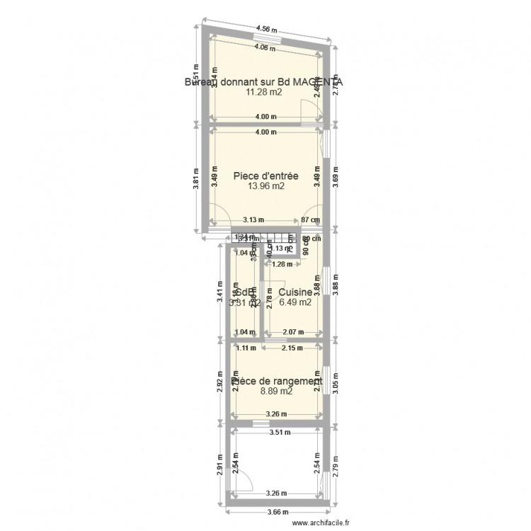 Plan local malte v2 plan 5 pi ces 44 m2 dessin par 2clery for Plan de malte