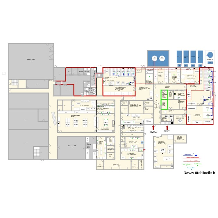 V204 proc d vacuum agrandissement 20 000p2 v14 plan 68 for Agrandissement maison permis de construire