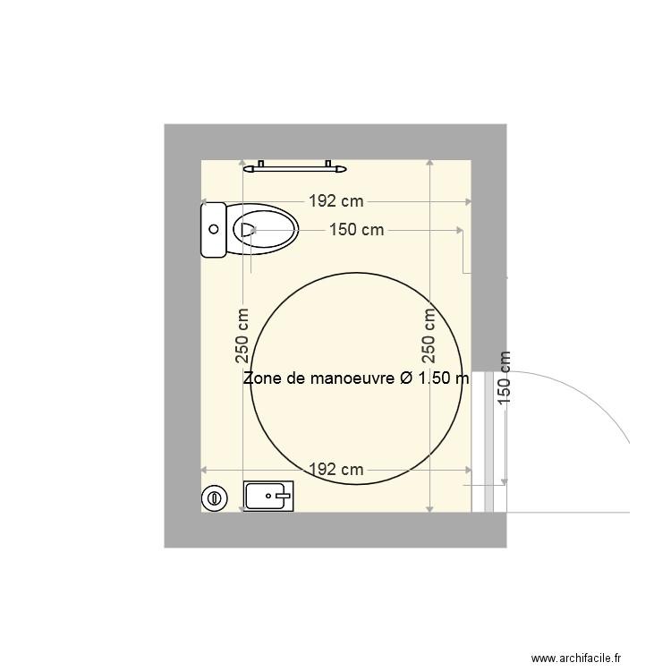 wc mixte pmr plan 1 pi ce 5 m2 dessin par mike29bzh. Black Bedroom Furniture Sets. Home Design Ideas