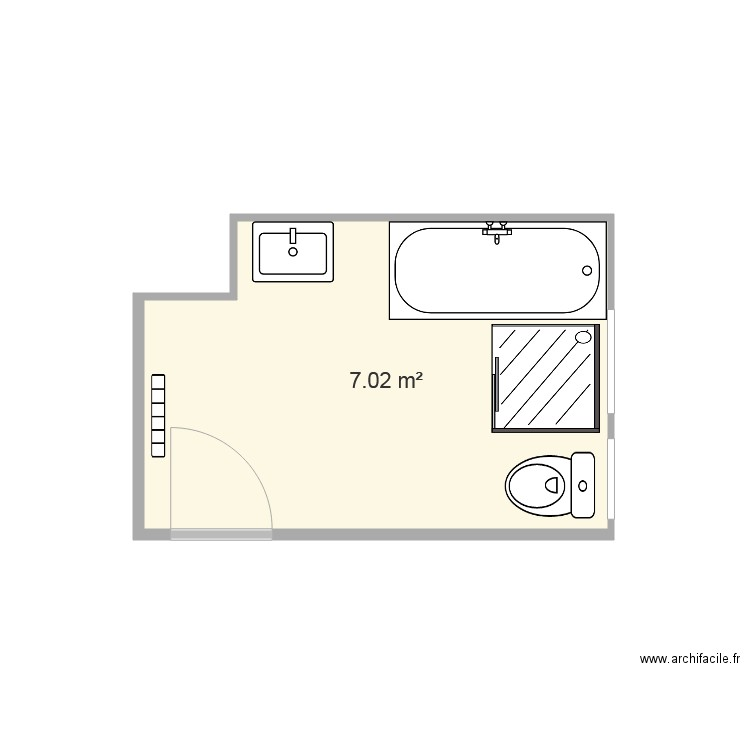 Sdb plan 1 pi ce 7 m2 dessin par ben8572 for Aide pour renovation maison