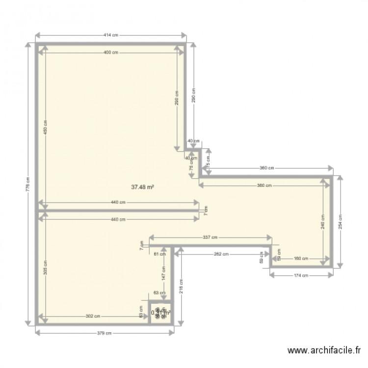Epernay plan 2 pi ces 38 m2 dessin par bruno for Plan epernay