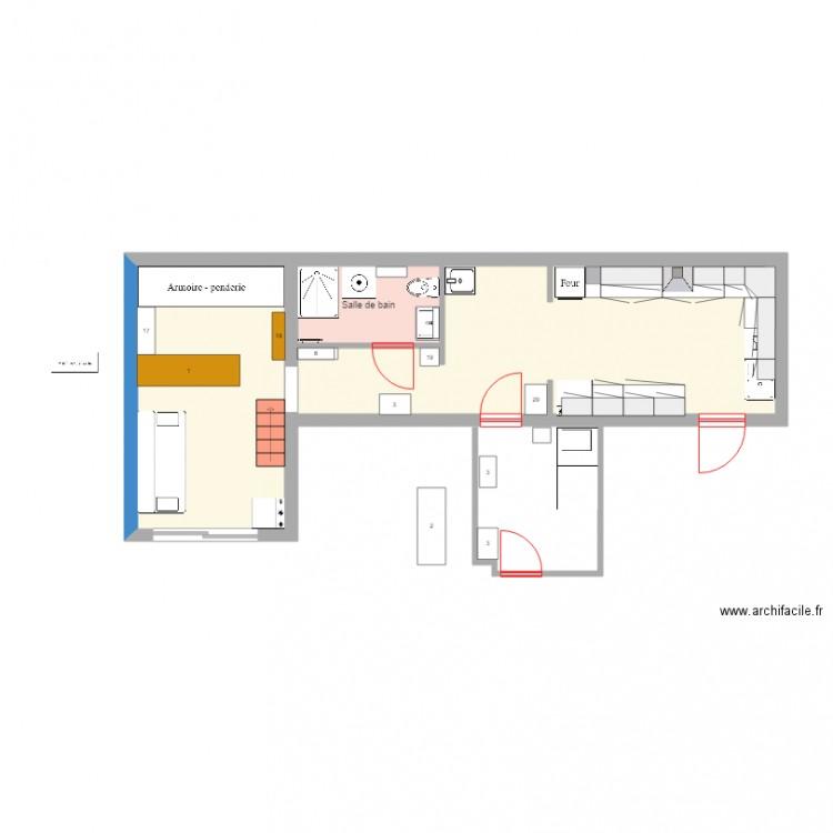 Patio plan 3 pi ces 41 m2 dessin par ferysa for Dessiner plan patio