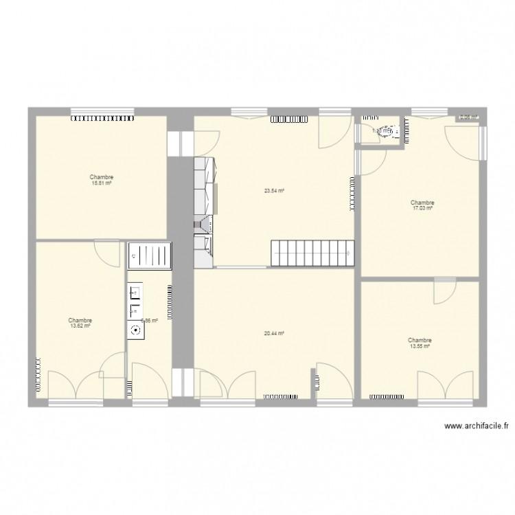 maison escalier 1 plan 9 pi ces 112 m2 dessin par dj didi973. Black Bedroom Furniture Sets. Home Design Ideas