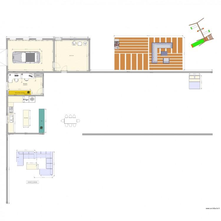 Mon plan maison plan 3 pi ces 68 m2 dessin par erikgero for Mon plan de maison parfait