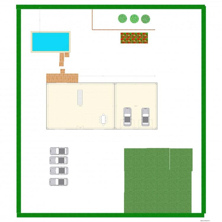 maison plan 2 pi ces 242 m2 dessin par jdelbonta. Black Bedroom Furniture Sets. Home Design Ideas