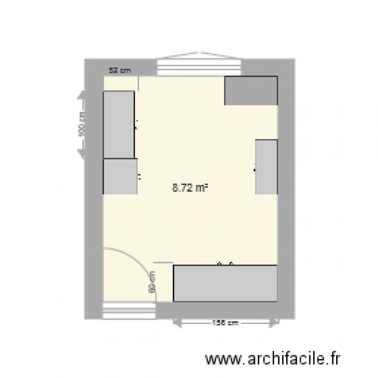 Chambre 3 plan 1 pi ce 9 m2 dessin par valpareiso77 for Chambre one piece