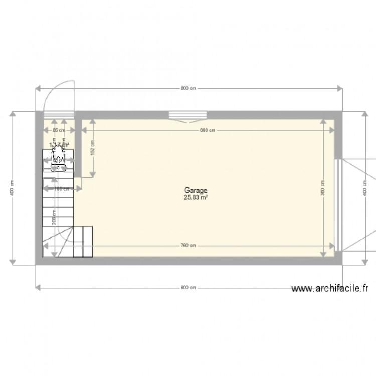 garage plan 2 pi ces 27 m2 dessin par tekasspalatete. Black Bedroom Furniture Sets. Home Design Ideas
