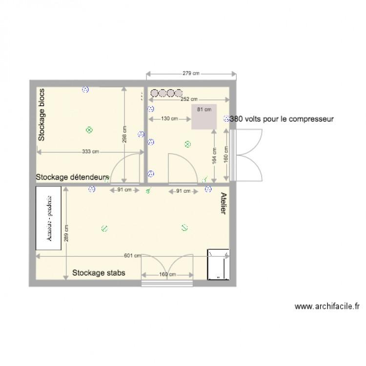 Local compresseur nouvelle piscine plan 2 pi ces 35 m2 for Plan local piscine