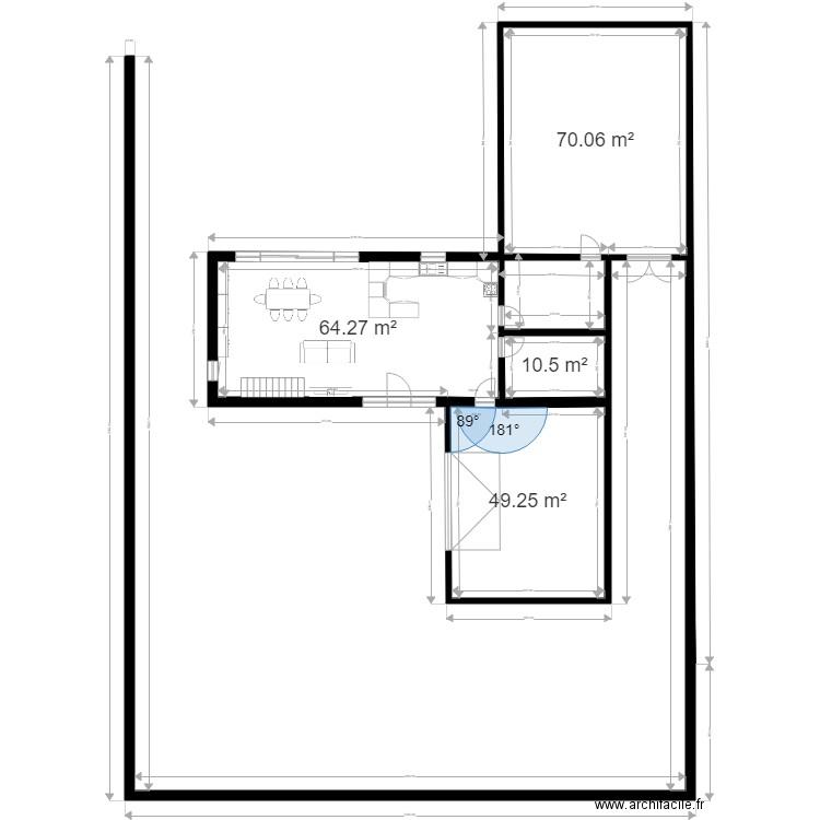 Ma maison 2 plan 2 pi ces 25 m2 dessin par soprayann for Dessine ma maison gratuitement