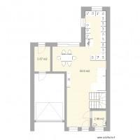 plan maison et appartement de 3 pi ces de 56 60 m2. Black Bedroom Furniture Sets. Home Design Ideas