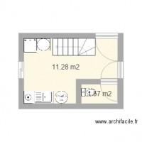 plan maison gratuit 2 pieces