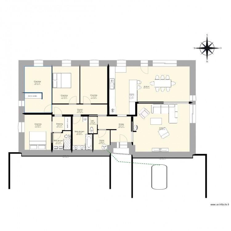 Maison Positive 4 Chambre 150m2 Plan 16 Pieces 151 M2 Dessine Par Substanable