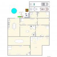 Studio 25m2 plan 5 pi ces 24 m2 dessin par leblanc2002 for Agrandissement maison 25m2
