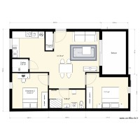 Plan appartement T3 64m2