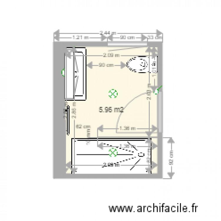 salle de bain 10 douche 80 plan 1 pi ce 6 m2 dessin par paerels. Black Bedroom Furniture Sets. Home Design Ideas