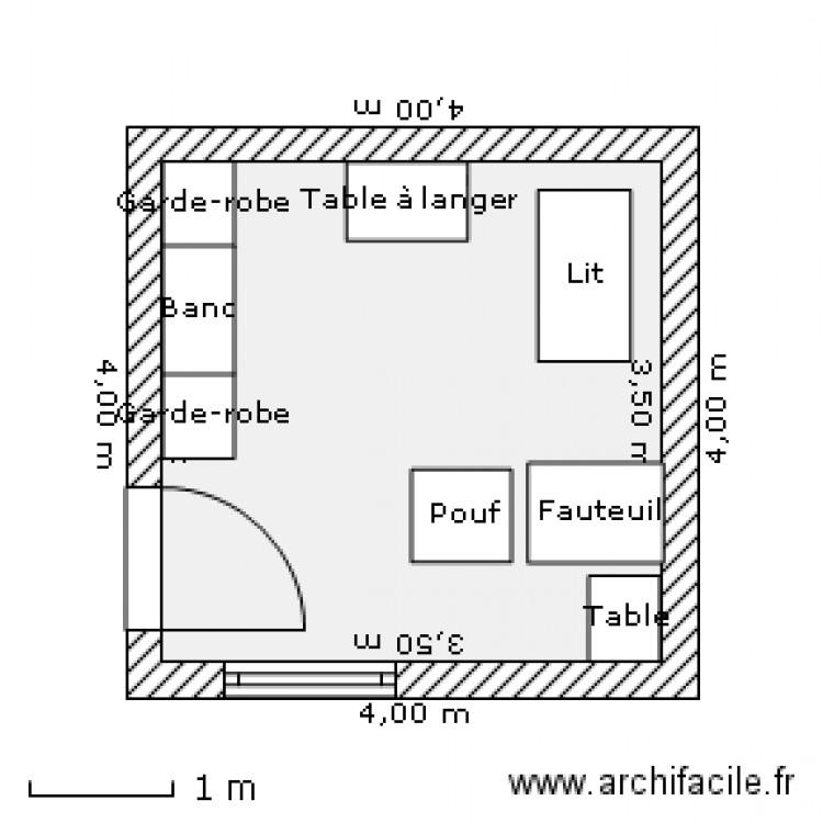 Chambre Bebe Plan 1 Piece 12 M2 Dessine Par Ombrelle