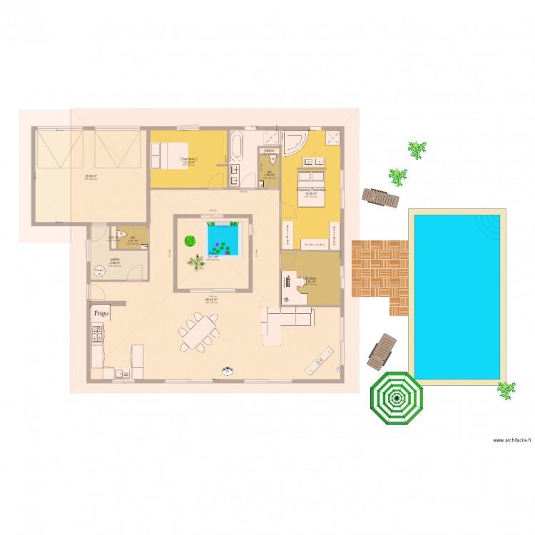 Type maison toiture 4 plan patio garage double plan 11 for Dessiner plan patio