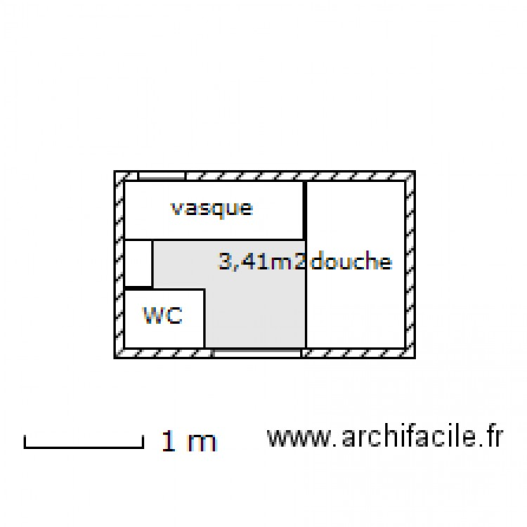 Salle De Bain Petite Plan 1 Pi Ce 3 M2 Dessin Par