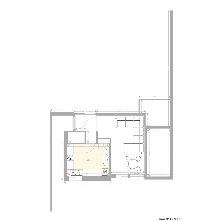 rez de chausse plan 1 pi ce 12 m2 dessin par pika84. Black Bedroom Furniture Sets. Home Design Ideas