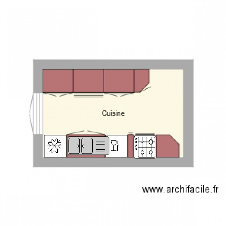 cuisine 1 plan 1 pi ce 9 m2 dessin par moi1957. Black Bedroom Furniture Sets. Home Design Ideas