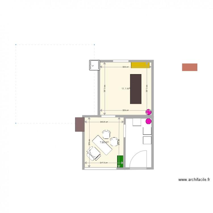Cabinet Plan 2 Pi Ces 19 M2 Dessin Par Celineaupeix