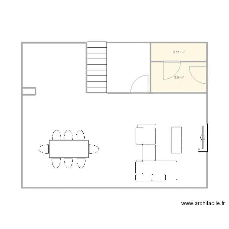 Maison cuisine plan 2 pi ces 6 m2 dessin par biquet34 for Aides pour maison de retraite