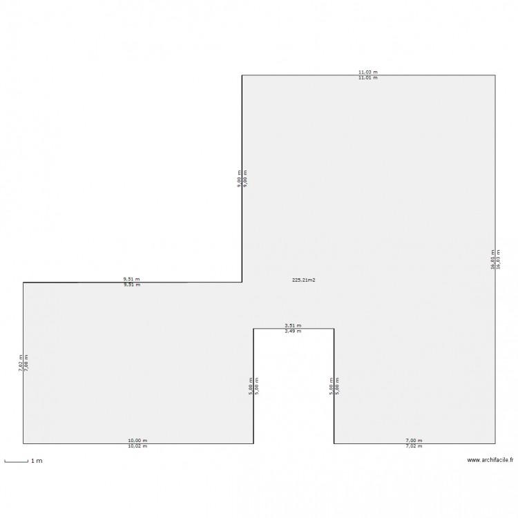 terrassement plan 1 pi ce 225 m2 dessin par lacouronne. Black Bedroom Furniture Sets. Home Design Ideas