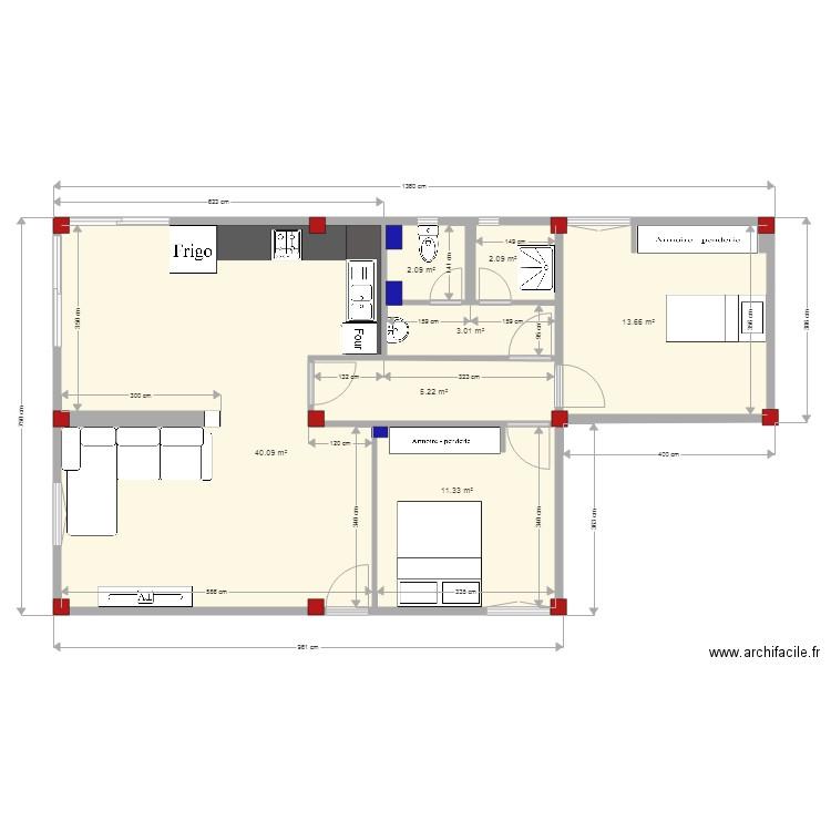plan appartement 200m2