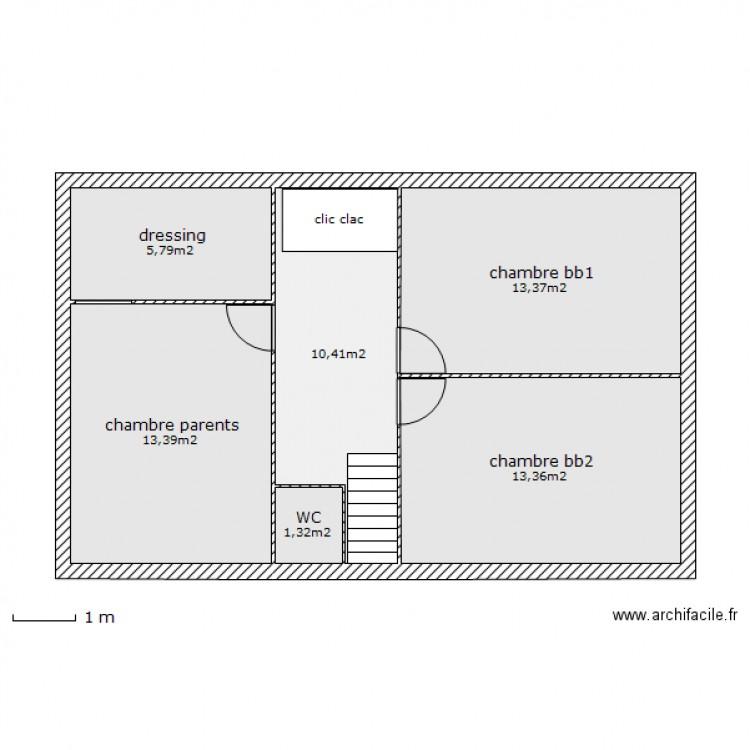 combles am nageables plan 6 pi ces 58 m2 dessin par