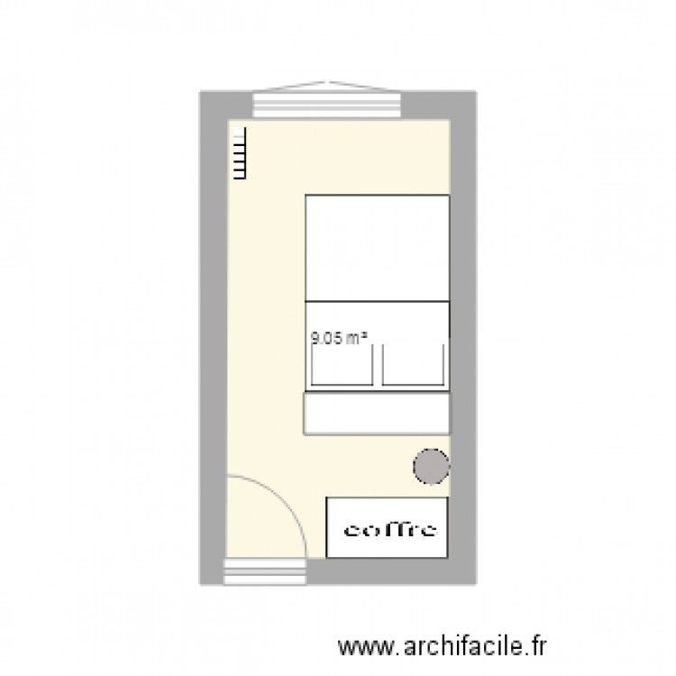 Chambre plan 1 pi ce 9 m2 dessin par chatonbyalkaline for Chambre one piece