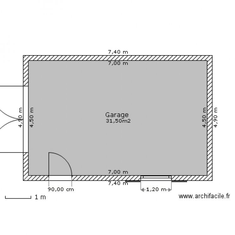 Plan Masse Garage  Plan  Pice  M Dessin Par Loic