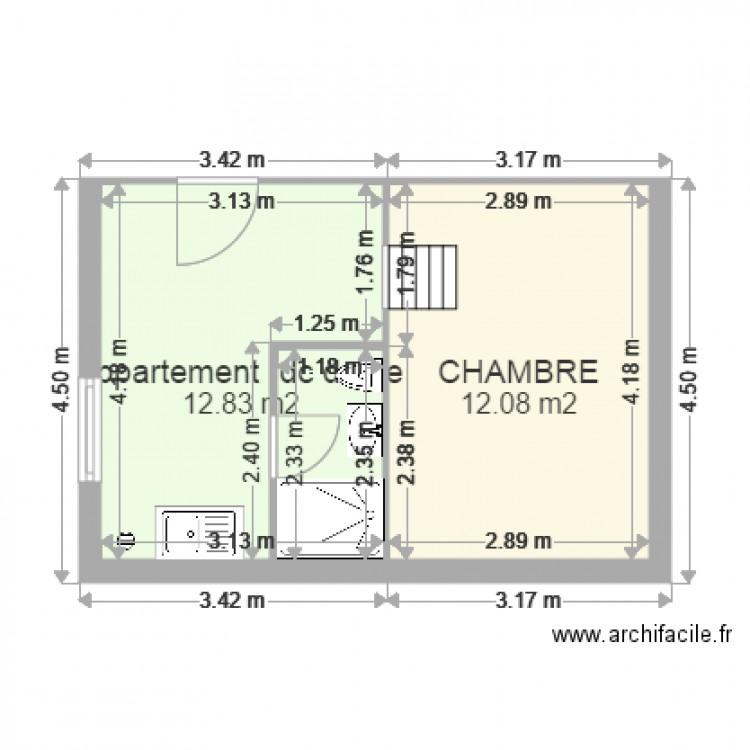 appartement 1 droite hall plan 2 pi ces 25 m2 dessin par adi77. Black Bedroom Furniture Sets. Home Design Ideas