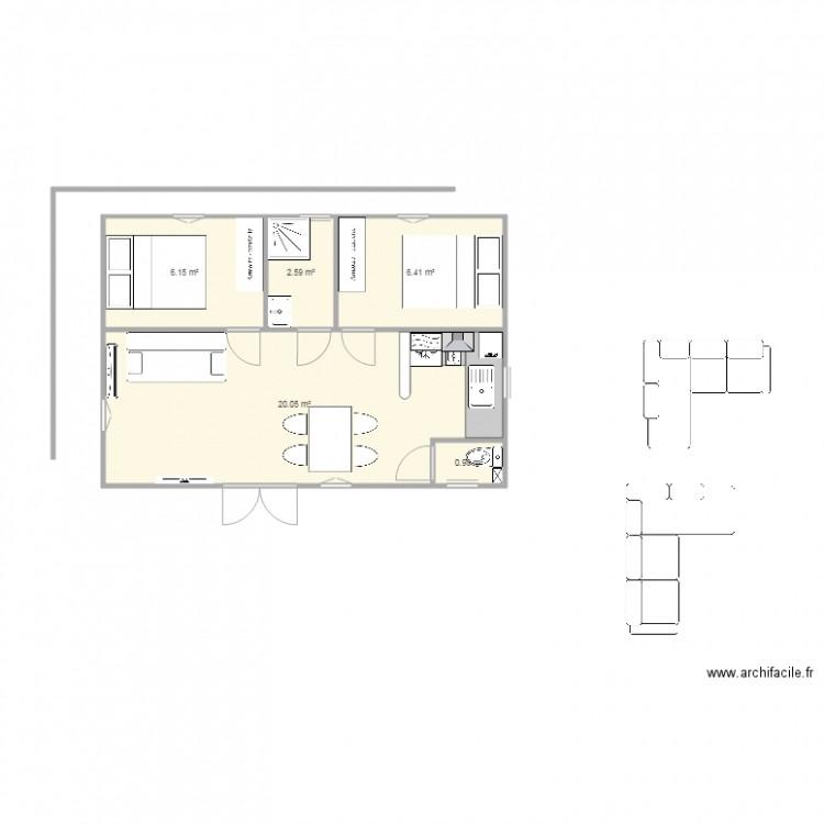 labo boulangerie 2 plan 5 pi ces 36 m2 dessin par delta4366. Black Bedroom Furniture Sets. Home Design Ideas