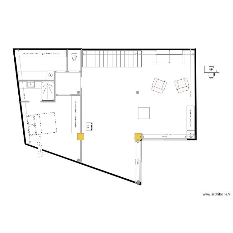 Plan 2d maison 3 plan dessin par gradouant - Plan 2d facile ...