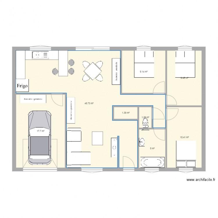 plain pied type maison phenix - Plan 8 pièces 103 m2 dessiné par gburiez