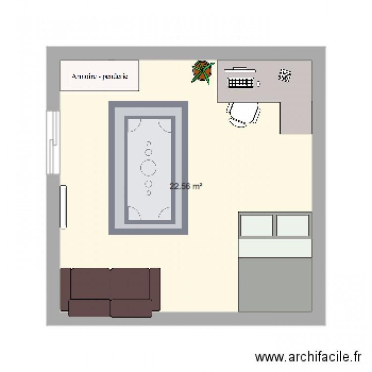 Chambre En Espagnol: Plan 1 Pièce 23 M2 Dessiné Par