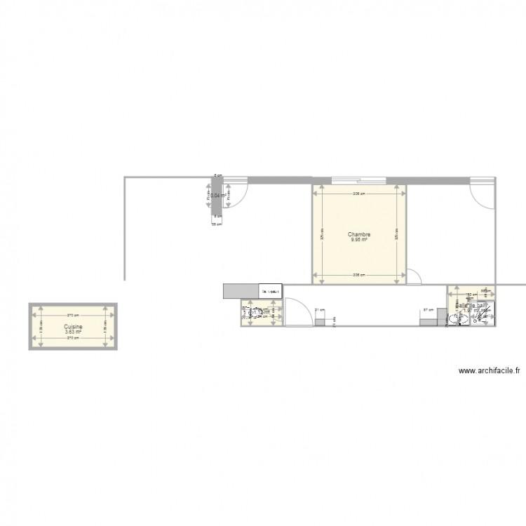 plan appart plan 5 pi ces 17 m2 dessin par pduffort. Black Bedroom Furniture Sets. Home Design Ideas