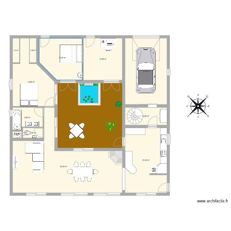 Maison Avec Patio Plan 13 Pieces 175 M2 Dessine Par Js Mersch 31