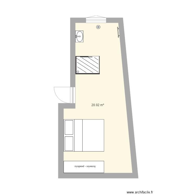 salle de bain plan 1 pi ce 20 m2 dessin par launay14. Black Bedroom Furniture Sets. Home Design Ideas