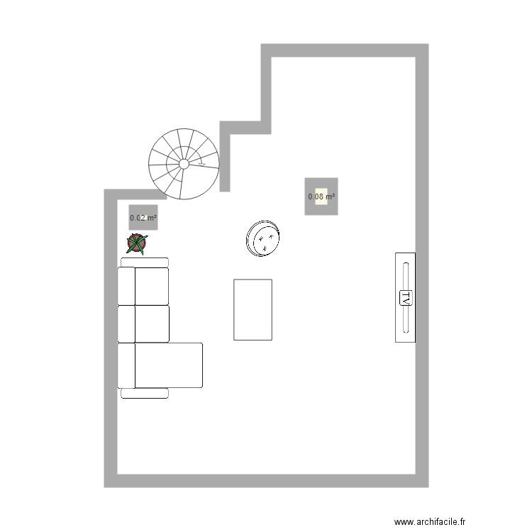 Chambre bureau plan 3 pi ces 17 m2 dessin par pascal 1974 for Nombre de m2 par personne bureau