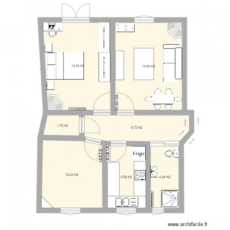 plan appartement 59m2