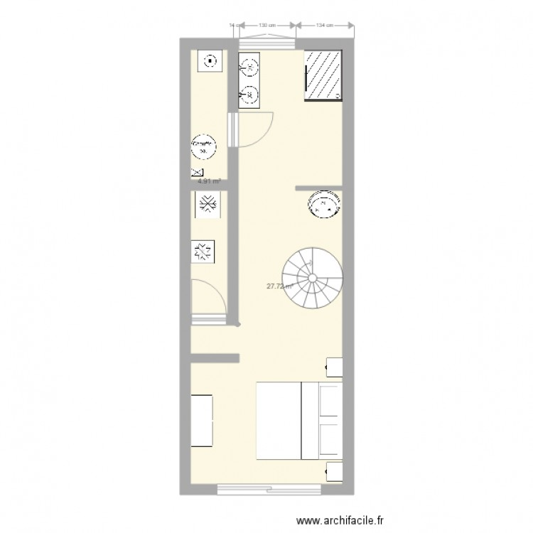 amenagement garage blan plan 2 pi ces 33 m2 dessin par. Black Bedroom Furniture Sets. Home Design Ideas