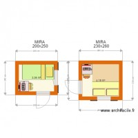 MIRA1 Bungalow 200x250 and 230x260 plan 2